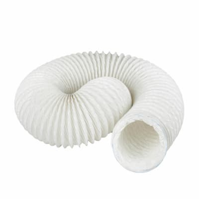 Manrose 4 Inch PVC Flexible Ducting - 3m - White
