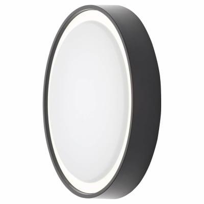 Forum Ripon LED Round Flush Light - 270mm - Black