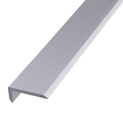 2000mm Chamfered Edge Profile - 19.6 x 8.6 x 1.6mm - Anodised Aluminium