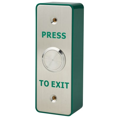 Stainless Steel Single Pole Egress Switch - 88 x 44mm - Narrow Style