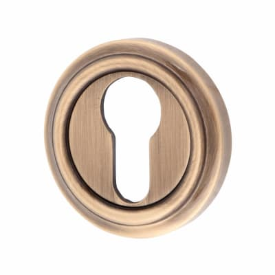 Jedo Euro Escutcheon - Antique Brass