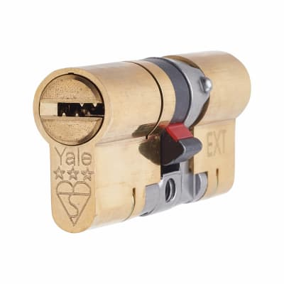 Yale 3 Star Anti-Snap Platinum Euro Double Cylinder - 70mm Length - 35 + 35mm - Brass