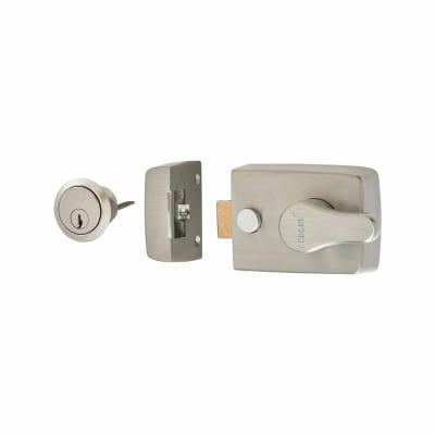 Arrone Nightlatch - 60mm Backset - Satin Chrome Case/Cylinder