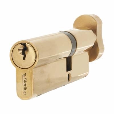 5 Pin Euro Thumbturn Cylinder - 100mm Length - 40mm [Turn] + 60mm - Brass