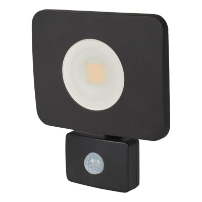 Integral LED 30W Compact-Tough Floodlight with PIR - 4000K - Black - Frosted Lens