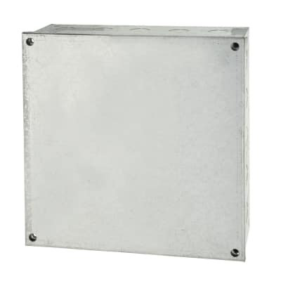 Adaptable Back Box with Knockouts - 9 x 9 x 4 Inch - Galvanised