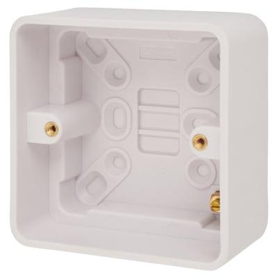Schneider Lisse 1 Gang Surface Pattress Box - 47mm - White