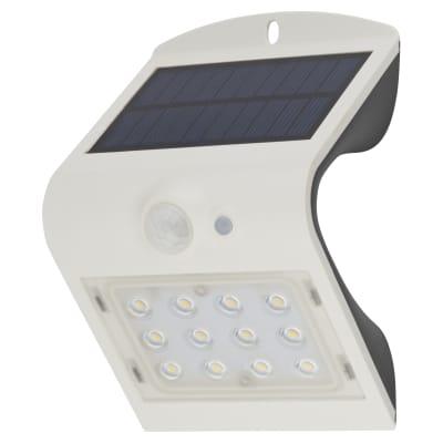 Luceco Solar Guardian PIR Wall Light - White