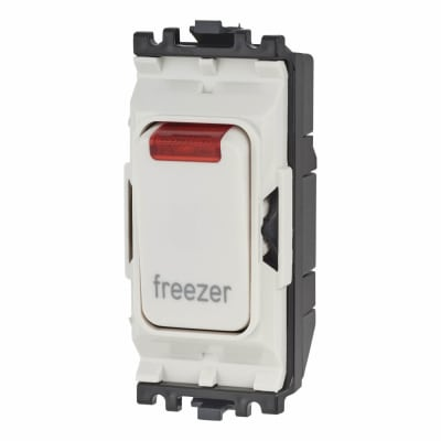MK Printed Grid Switch with Neon - Freezer - White