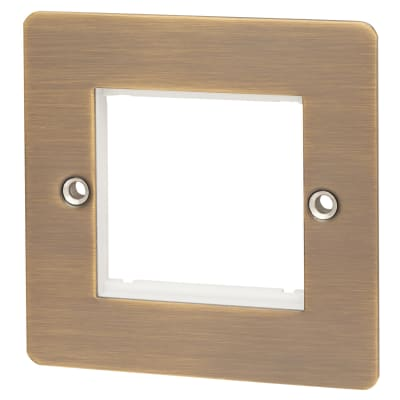 Hamilton Sheer EuroFix 2 Module Euro Plate - Antique Brass