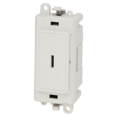 Click Scolmore GridPro 20AX Double Pole KeySwitch Module - White