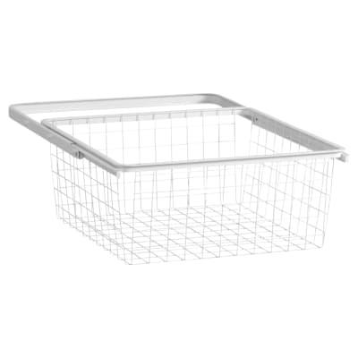elfa Basket and Frame- 449 x 430 x 185mm - White