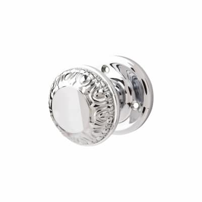 M Marcus Egg & Dart Mortice Door Knob - Polished Chrome