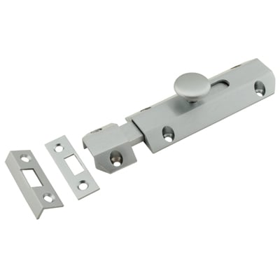 Carlisle Brass French Door Bolt / Flat Section Bolt - 200mm - Satin Chrome