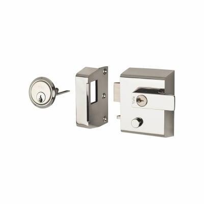 Yale® P2 Double Locking Nightlatch - Chrome