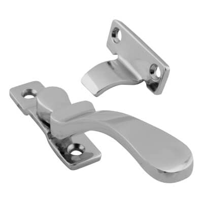 Hampstead Victorian Wedge Window Fastener - Polished Chrome