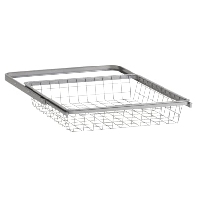 elfa Basket and Frame- 449 x 430 x 85mm - Platinum