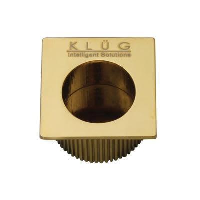 KLÜG Square Door Edge Finger Flush Pull - 30 x 30mm - PVD Brass