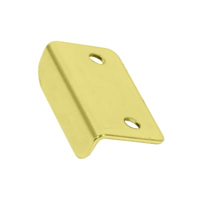 Angled Latch Plate - 30 x 16 x 9mm - Brass Plated - Pack 10