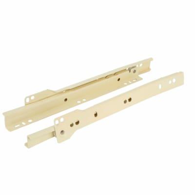 Motion Base Mounted Drawer Runner - Single Extension - 400mm - Cream