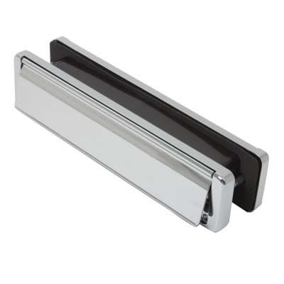 Fab & Fix - uPVC/Timber - Nu-Mail Letter Plate - 20-40mm Door - Bright Chrome