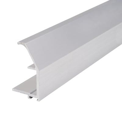 Vinklet Profile Aluminium Handle - 2500mm - Brushed Silver