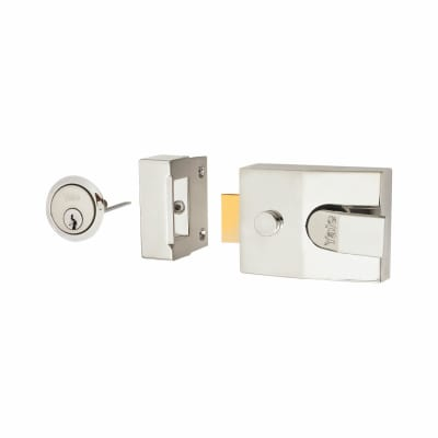 Yale® 89 Double Locking Nightlatch - 60mm Backset - Polished Chrome Case/Cylinder