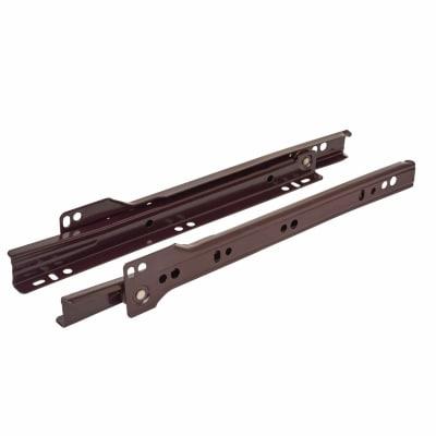 Motion Base Mounted Drawer Runner - Single Extension - 350mm - Brown