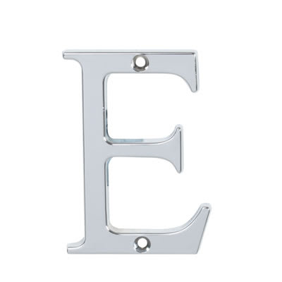 76mm Letter - E - Bright Chrome
