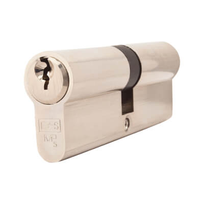 5 Pin Cylinder - Euro Double - 45 + 45mm - Nickel