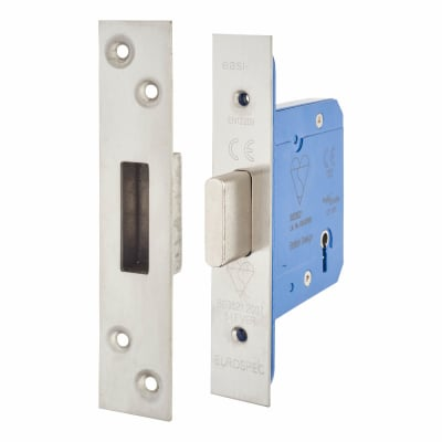 A-Spec BS3621 5 Lever Deadlock - 78mm Case - 57mm Backset - Satin Stainless