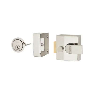 Yale® 85 Double Locking Nightlatch - 40mm Backset - Polished Chrome Case/Cylinder
