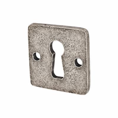 Finesse Jesmond Keyhole Escutcheon - Pewter