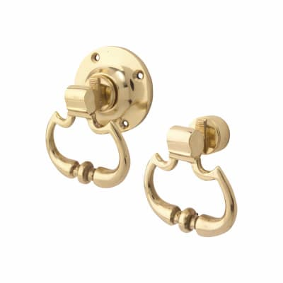 Altro Traditional Rim Carriage Drop Handle - Polished Brass