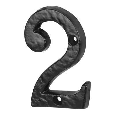 Olde Forge 76mm Numeral - 2 - Antique Black Iron