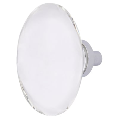 Altro Oval Glass Cabinet Knob - 44mm - Polished Chrome