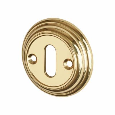 Hampstead Escutcheon - Keyhole - Polished Brass