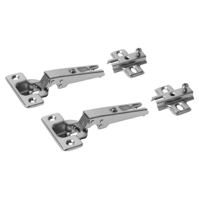 Klug Slide-On Cabinet Hinge - 95 Degree - Overlay - Pair