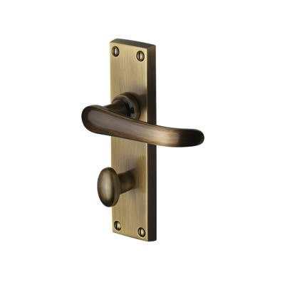 M Marcus Windsor Bathroom Door Handle - Antique Brass