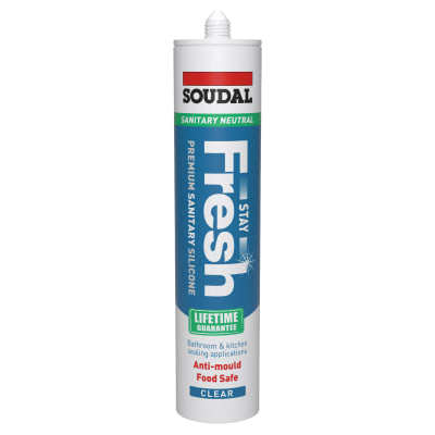 Soudal Stay Fresh Ultimate Anti-mould Sealant - 300ml - Clear