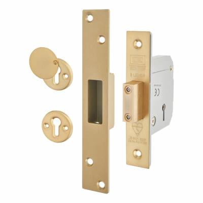 UNION 3G114E BS3621:2007 Heavy Pattern Deadlock - 67mm Case - 40mm Backset - Polished Brass
