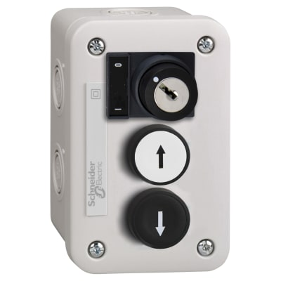 Schneider Control Station with white Push Button 1 NO + Black Push Button 1 NO+ Selector Switch 1 NO