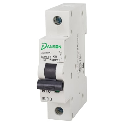 Danson 10A Single Pole 6kA MCB Module - Type B