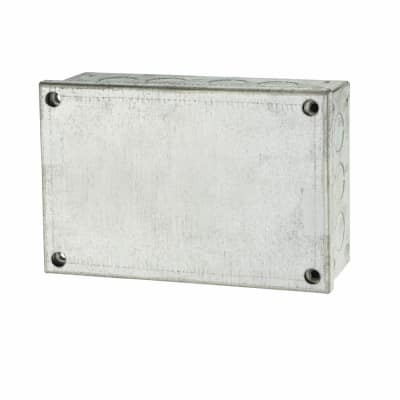 Adaptable Back Box with Knockouts- 54mm - Galvanised