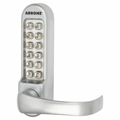 Arrone AR/D-515 Panic Access Lock - Timber/Metal Door - Matt Chrome