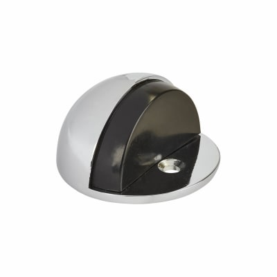 Hampstead Half Moon Floor Door Stop - 45mm - Polished Chrome