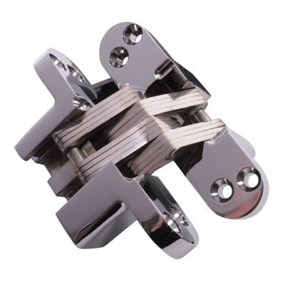 Altro Concealed Hinge - 117 x 29mm - Polished Chrome - Pair