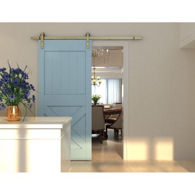 Klug Barn Strap Sliding Door Gear with 40-60kg Soft Open/Close - Antique Brass