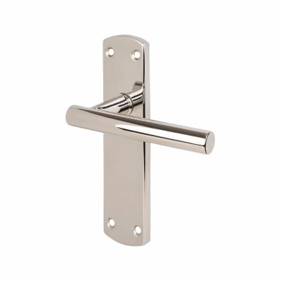 Steelworx Mitred-T CSL Latch Door Handle - Polished Stainless Steel