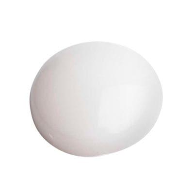 Plastic Screw Dome - White